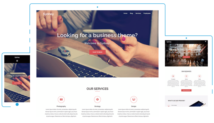 Sydney - WordPress Templates Free