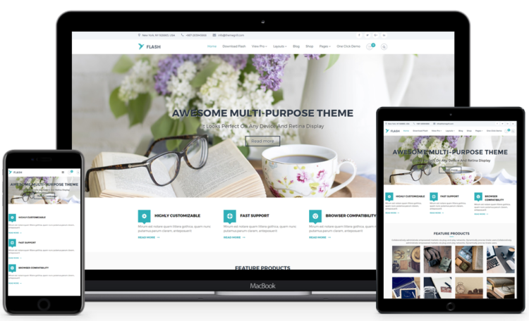 Flash - WordPress Templates Free