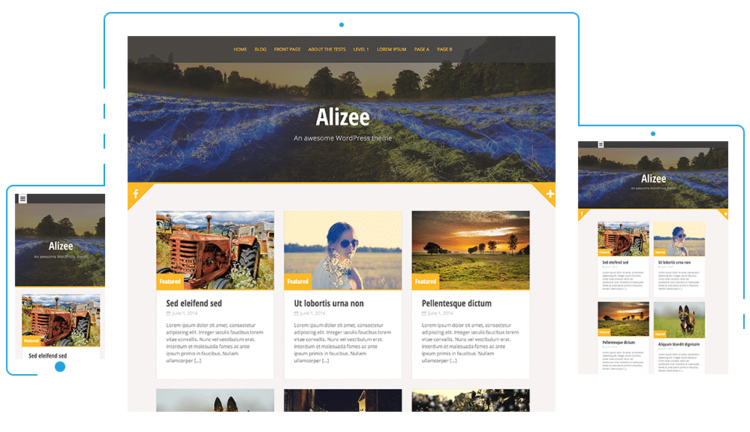 Alizee - WordPress Templates Free