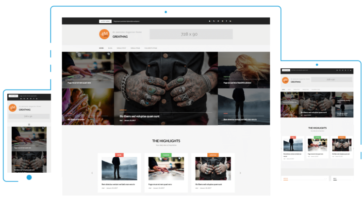 GreatMag - WordPress Templates Free