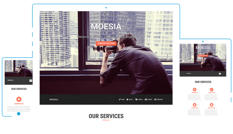 Moesia - WordPress Templates Free