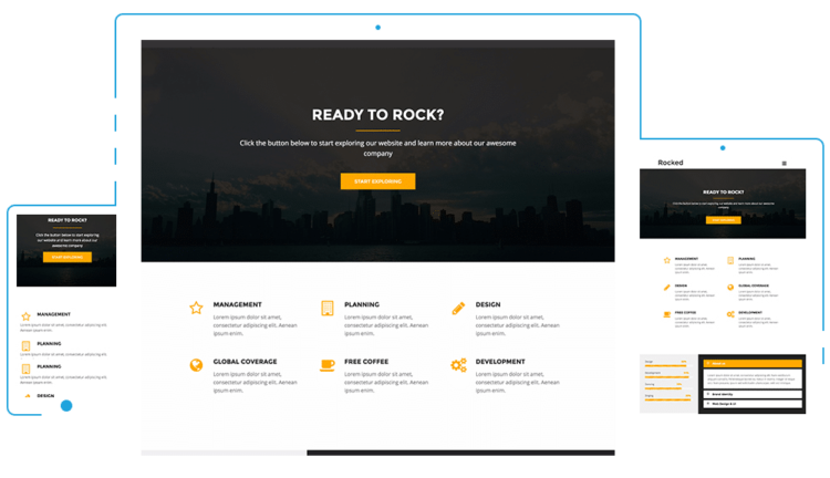 Rocked - WordPress Templates Free