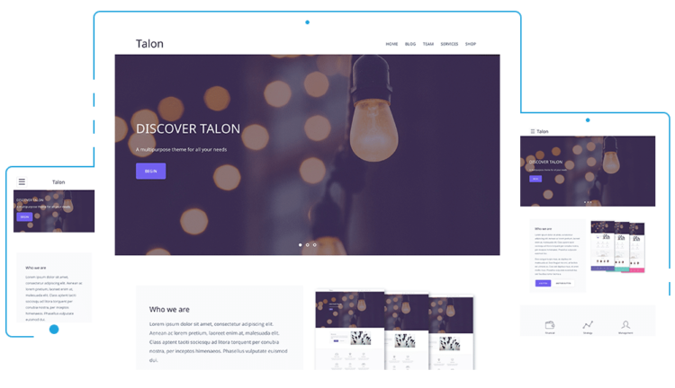 Talon - WordPress Templates Free