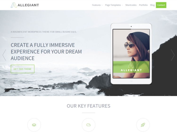 Allegiant - WordPress Templates Free