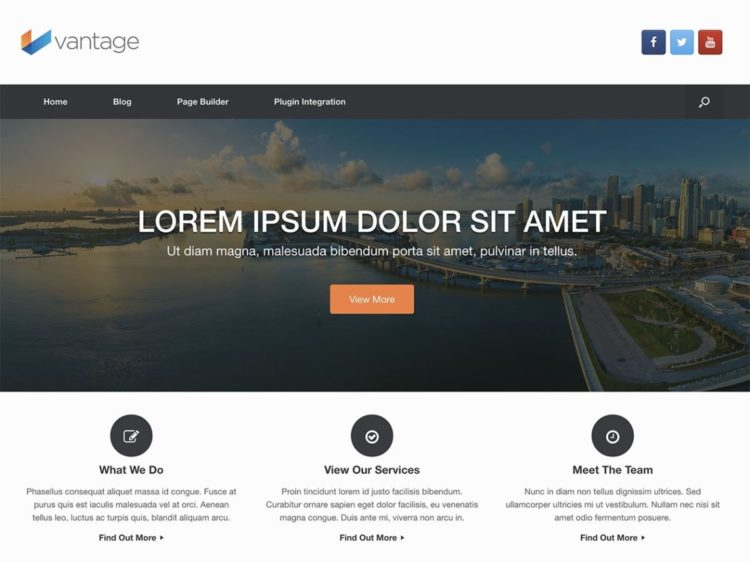 Vantage - WordPress Templates Free