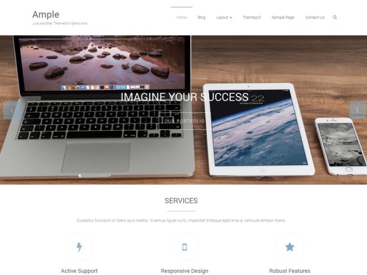 Ample - WordPress Templates Free