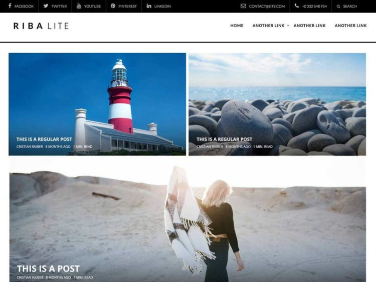 Riba Lite - WordPress Templates Free