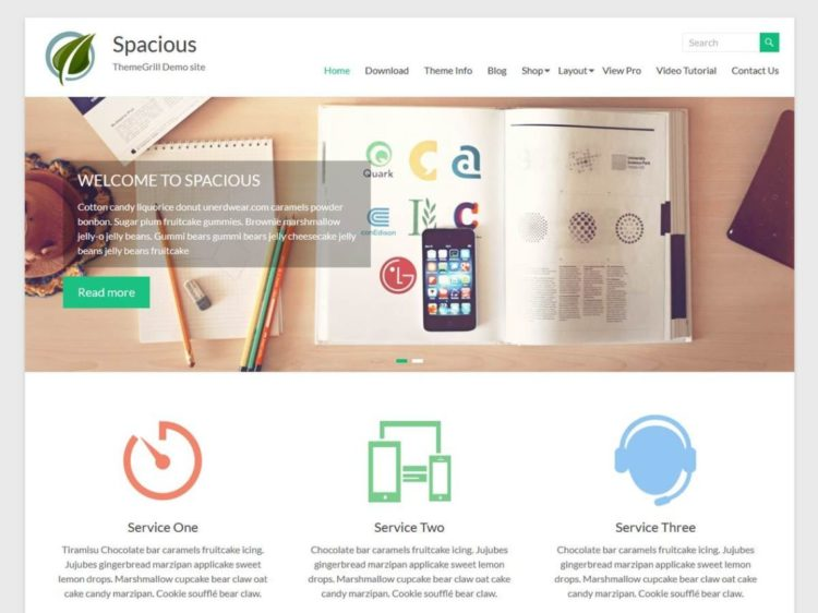 Spacious - WordPress Templates Free