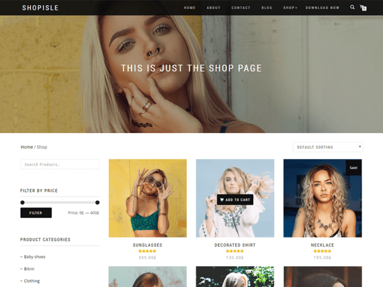 ShopIsle - WordPress Templates Free