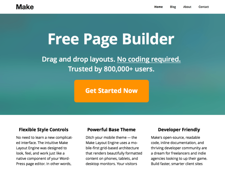 Make - WordPress Templates Free