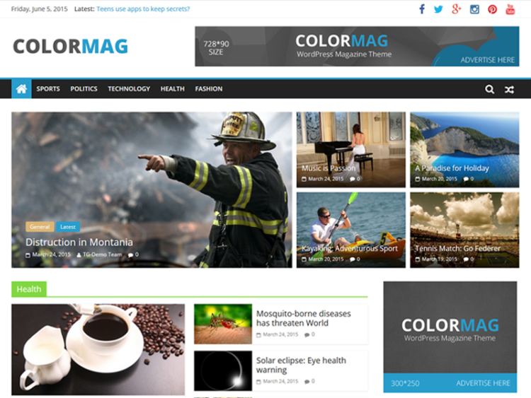ColorMag - WordPress Templates Free