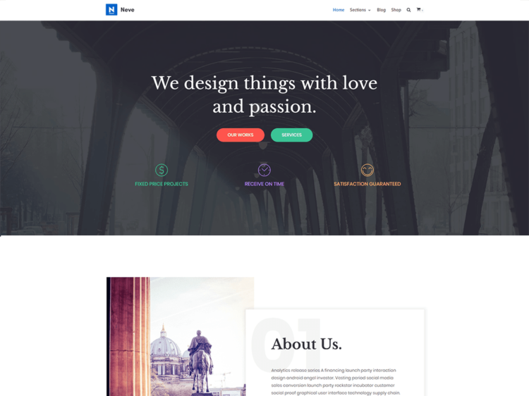 Neve - WordPress Templates Free