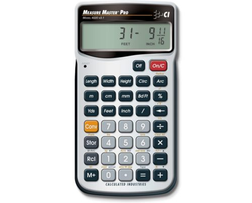 Calculated Industries 4020 Measure Master Pro - Feet Inch Fraction Calculators