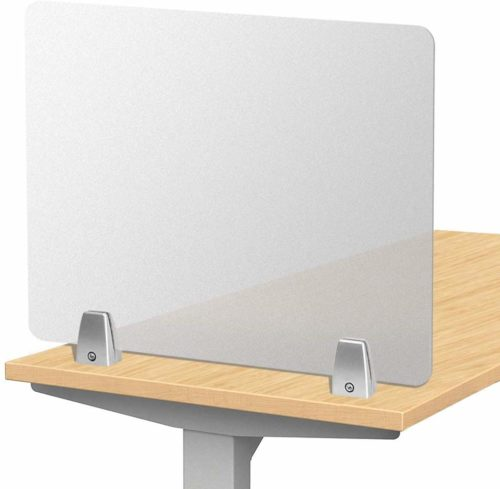 Owfeel Frosted Desk Divider Office Partition Privacy Desk Panel