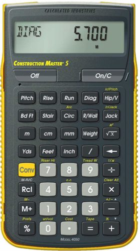 Calculated Industries 4050 Construction Master 5 - Feet Inch Fraction Calculators