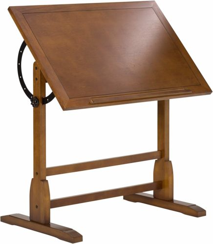Studio Design Vintage Oak Drafting Tables