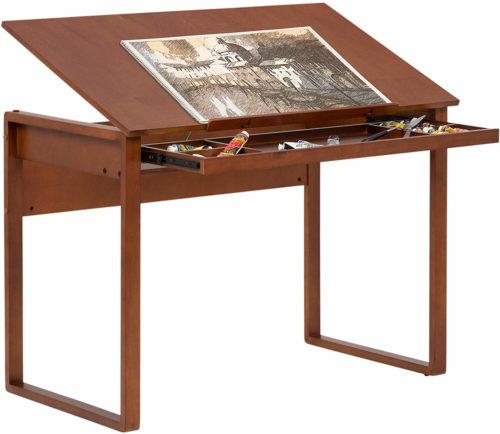 Studio Designs Ponderosa Wood Topped Table in Sonoma Brown 13285