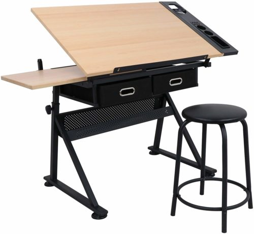 Zeny Height Adjustable Drafting Table | Top 10 Architect Drawing Table