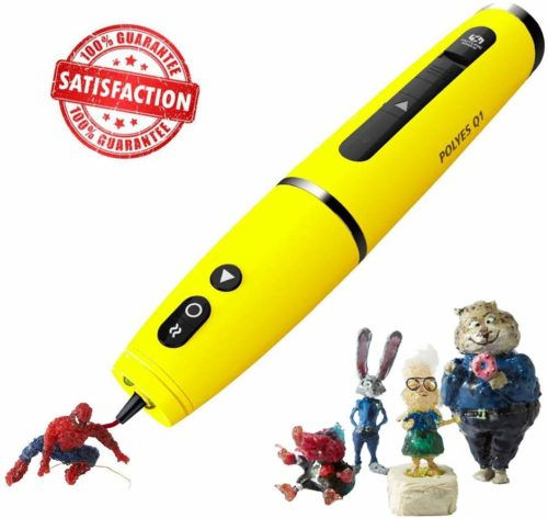 Future Make Polyes Q1 World's First 3D Printing Pen with Cool Ink, No Hot Parts, No Wires, Inbuilt Battery, Easy to Use, Safe for Children, Building,...