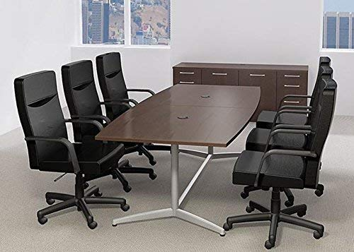6ft - 10ft Boat Shaped Modern Conference Table | Modern Conference Table