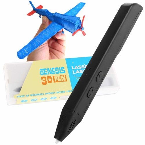 Genesis 3D Printing Pen - Supports PCL and PLA Filaments, Easy to Use and Operate (Jet Black)