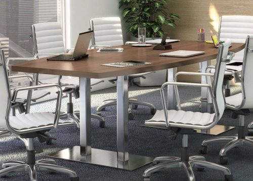 8ft - 24ft Modern Conference Boat-Shaped Table | Modern Conference Table