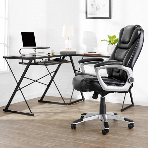 AmazonBasics Bonded Leather High-Back | EXECUTIVE OFFICE CHAIRS