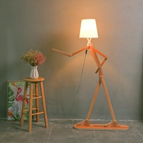 HROOME Modern Contemporary Decorative Wooden Floor Lamp