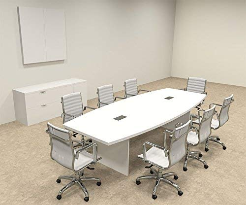 Modern Boat shaped 10' Feet Conference Table| Modern Conference Table