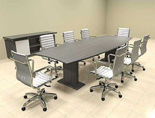 Modern Contemporary Boat Shaped 10' Feet Conference Table