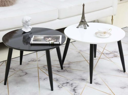 TaoHFE End Table Round Modern Furniture 4-Legs
