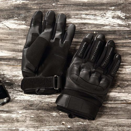 by Milwaukee Leather Milwaukee Leather Mens Premium Leather Perforated Cruiser Gloves MG7500 L
