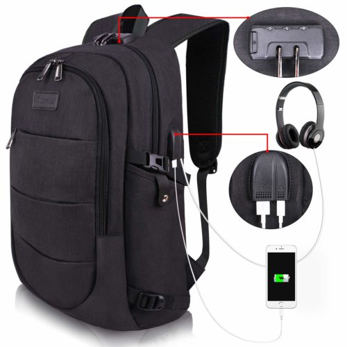 Travel Laptop Backpack Water Resistant Anti-Theft Bag with USB Charging Port and Lock | Backpacks for High School Girl
