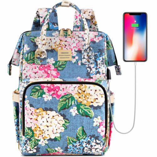 Laptop Backpack,15.6 Inch Stylish College School Backpack with USB Charging Port | Backpacks for High School Girl