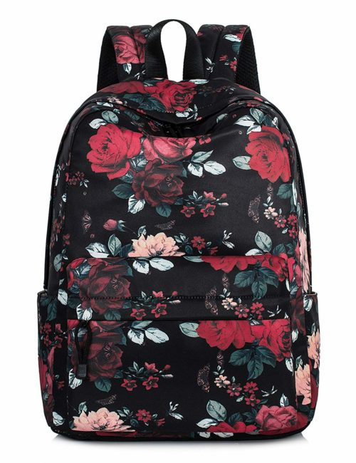 Leaper Vintage Floral School Backpack for Girls Large College Bags