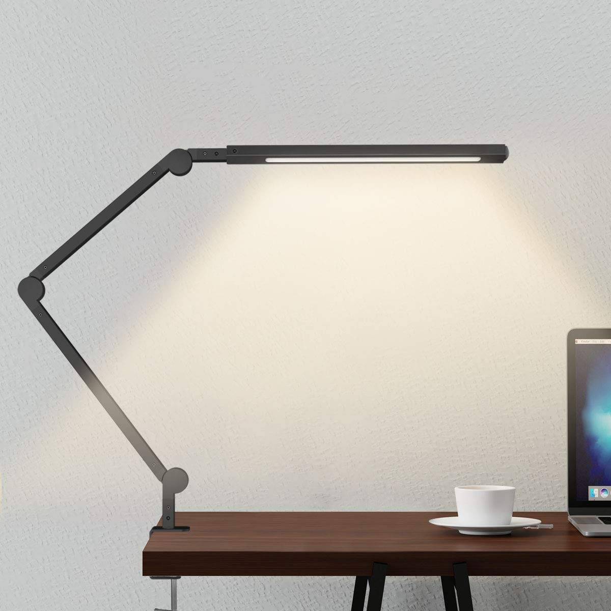 Swing Arm Lamp, LED Desk Lamp with Clamp