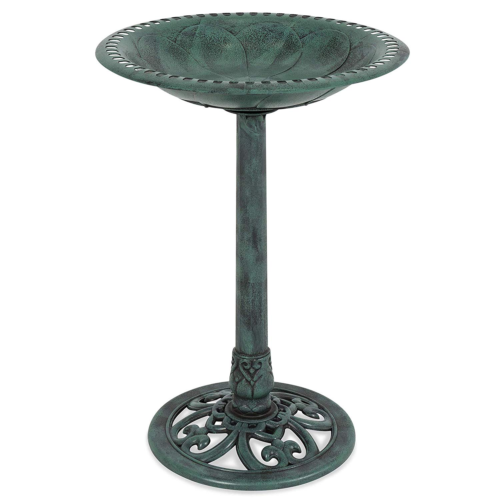 Best Choice Products Outdoor Garden Pedestal Birdbath Vintage Decor