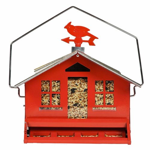 Perky-Pet 338 Squirrel-Be-Gone II Country House Bird Feeder with Weathervane
