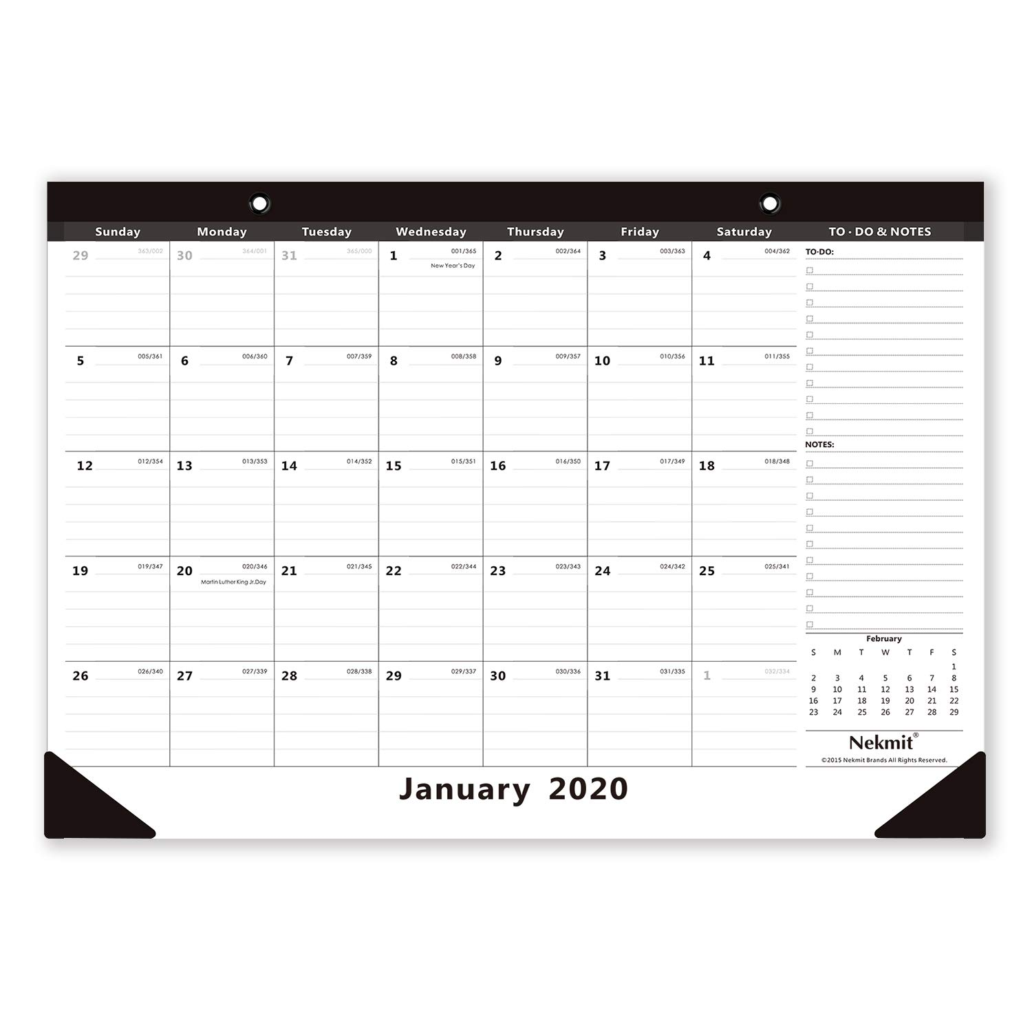 Nekmit 2020 Monthly Desk Pad Calendar - Things You Should Have on Your Office Desk