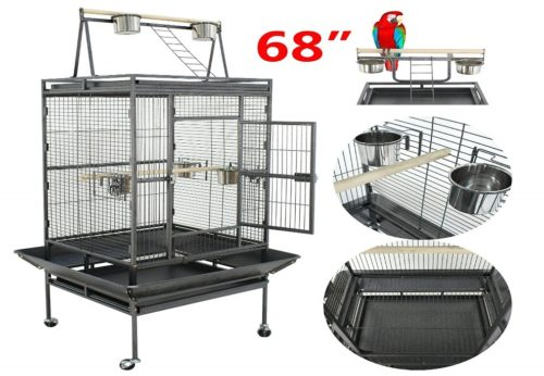 SUPER DEAL PRO 61''/ 68'' 2in1 Large Bird Cage | Parrot cage