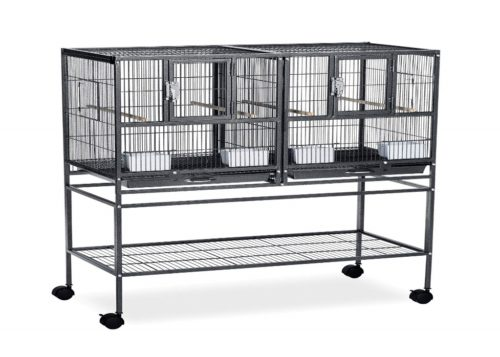 Prevue Pet Products Hampton Deluxe Divided Breeder Cage | Parrot cage