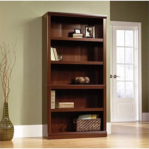 Sauder 5 Shelf Bookcase, Select Cherry finish - What you should have in your office