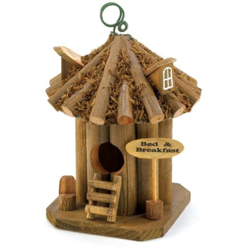 Gifts & Decor Bed and Breakfast Hanging Wooden Garden Birdhouse