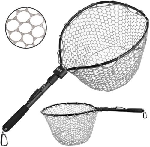 "PLUSINNO Fly Fishing Net, 16"" x 13"" Fish Landing Net"