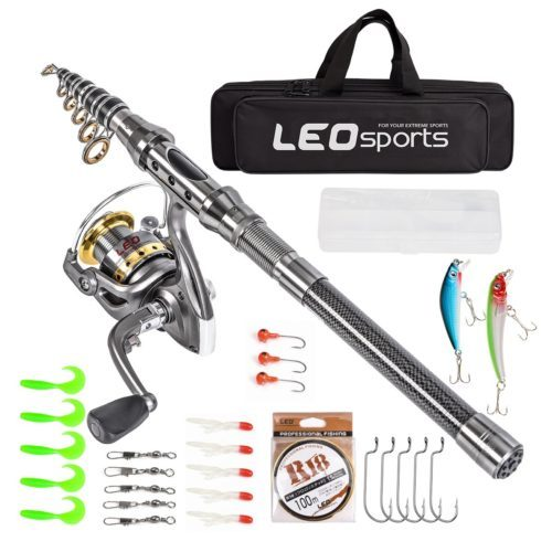 Leo Telescopic Fishing Rod and Reel - Telescoping Fishing Rods