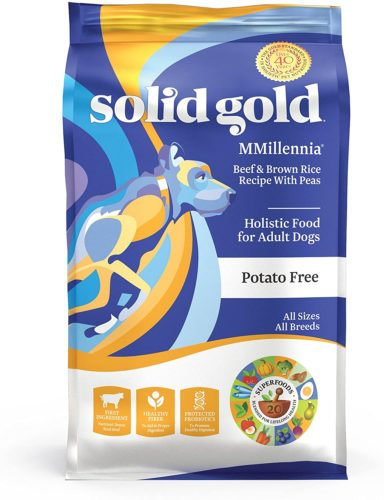 Solid Gold - Mmillennia With Natural Beef, Brown Rice & Peas - Fiber Rich- Probiotic Support - Dry Dog Food For Sensitive Stomachs