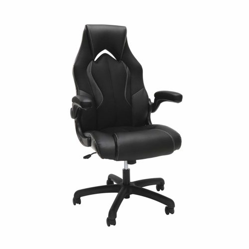 OFM Essentials Collection High-Back Racing Style Bonded Leather Gaming Chair - Cheap Gaming Chairs, in Black