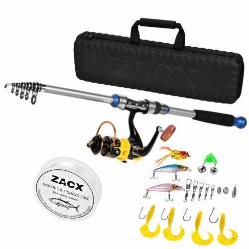 ZACX Telescopic Fishing Rod and Reel - Telescoping Fishing Rods