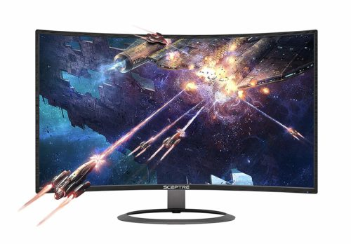 "Sceptre 27"" Curved 75Hz LED Monitor - Gaming Monitors with Speakers"