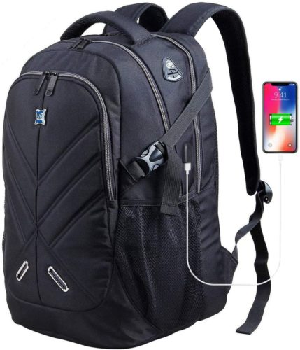 OUTJOY Laptop Backpack for Men Women Waterproof Shockproof Travel Backpack College Backpack Laptop Bag Fit 17 Inches Laptops Business Work Backpack with... - Waterproof Laptop Backpacks